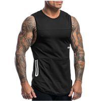 21SS Men's Sports Fitness Training Vest Slim breathable tank shirt Male Training Top SIZE :M-2Xl