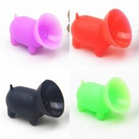 Discount pig phone holders Party Favor Sucking Disc Silicone Phone Holders Rich Colors Pig Shapes Powerful Bracket Bases Holder Wear Resistant Easy Protect 0 43sh E2 B