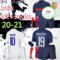 2021 2022 2 stars France soccer jersey MBAPPE BENZEMA GRIEZMANN KANTE POGBA Maillot de foot EURO 20 21 Kids kits + socks set football shirts Uniform youth