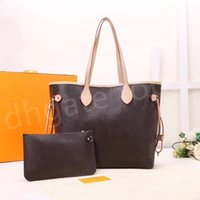 2pcs set classic Designer womens handbags flower ladies composite tote PU leather clutch shoulder bags female purse with wallet