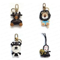 2021 Keychain Key Chain Keychains Buckle Lovers Car Handmade Leather Men Women Bag Pendant Accessories 4 Color with box #KCS-01