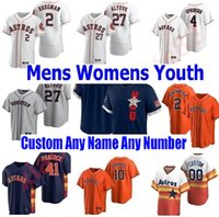 Houston Men Women youth kids Astros 2021 Baseball jerseys Jose Altuve George Springer Michael Brantley Yuli Gurriel Alex Bregman Nolan Ryan Craig Biggio jersey