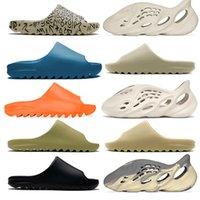 Topsportmarket Slides Slippers Sandals Graffiti Orange Blue Desert Sand Triple Black Rubber Bone White Resin Slide Foam Runner RNNR Ararat Mens 12.5 36-47
