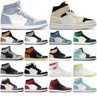 1 1s High OG Basketball Shoes for women men Mid Barely Orange Hyper Royal University Blue Light Smoke Grey Mens Trainers sports Sneakers