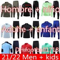 20 21 22 Manchester training suit men kids MARTIAL RASHFORD survetement football jacket sportswear jogging 2021 POGBA United Soccer Tracksuit