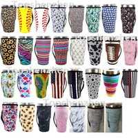 Drinkware Handle 31 Style 30oz Reusable Ice Coffee Cup Sleeve Cover Neoprene Insulated Sleeves Holder Case Bags Pouch For 32oz Tumbler Mug Water Bottle