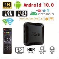 X96Q TV Box Android 10 4K 2.4G Wifi Allwinner H313 Quad Core Smart TVBox Media Player 16GB X96 Smart-tv Set-topBox