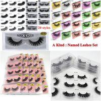 3D Mink Eyelashes Eyelash 3D Eye makeup Mink False lashes Soft Natural Thick Fake Eyelashes Lashes Extension Beauty Tools 20 styles DHL Free
