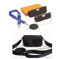 2021 Women Genuine leather Three piece suit Fashion shoulder bag crossbody bags handbags Multi Pochette