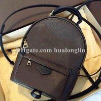 Fashion handbag Women school Bag backpacks woman men girls date code serial number flower
