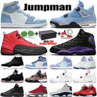 mens shoes jumpman 1s Hyper Royal University Blue 4s Black Cat 11s 25th Anniversary 13s Red Flint Court Purple men sports trainers sneakers