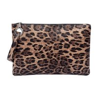 designer envelope clutch bags 2021 - Fashion Leopard Print Ladies Clutch Leather Envelope Bag Dinner Cosmetic Zipper Storage Boxes & Bins