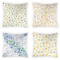 Discount dakimakura case Cushion Decorative Pillow Fresh Flowers Leaves Printing Cushion Cover Cases Sofa Bedroom Dakimakura Case One