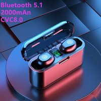 F9-13 V5.1 Double Ear TWS Twins Bluetooth Wireless Earphone With Charger Dock Waterproof Earbuds Stereo Gaming Headphone For Smart Phone