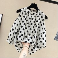 large polka dot shirt 2021 - Women Shirt Blouse Large Size Summer Short Sleeved All match Tops Polka Dot off Shoulder Chiffon elegant Female