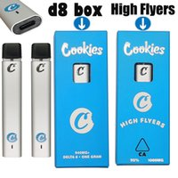Delta 8 Cookies High Flyers Oil Rechargeable Disposable Vape Pens Vapes Bar 1ml Thick Distillate 510 Thread Carts 240mah Battery Cartridges Empty Packaging OEM
