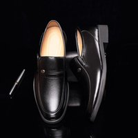 Wholesale low price dress shoes for sale - Group buy Dress Shoes Business Man Formal Mens Men Lace Up Gentleman Office Flats Work Loafers On Low Price JI09