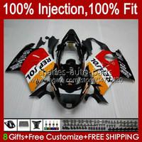 Injection Mold Fairings For HONDA Blackbird CBR1100 CBR 1100 XX 1100XX 96-07 26No.0 CBR1100XX 1996 1997 1998 1999 2000 2001 1100CC 02 03 04 05 06 07 Bodys Repsol orange