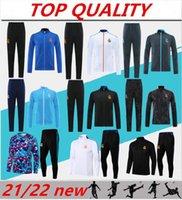 2021 2022 Real Madrid soccer Training suit Jacket Tracksuits 21 22 camiseta de futbol HAZARD BENZEMA MODRIC Jogging football Tracksuit Sets