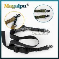 Wholesale Elastic Gun Belt - MAGAIPU NEW Adjustable 2 Dual-Point Mission Bungee Hunting Belt Elastic Tactical Sling Strap for Gun Green Black Tan