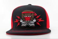 Wholesale Cartoons Snap Caps - DOMO Snapbacks Snapback Hats Design Cheap Character Adjustable cartoon DOMO Snap Back Hats Sport Team Caps Top Quality Free Shipping QH