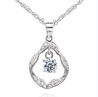 Wholesale Cheap Valentines Jewelry - Valentine hot sale 925 sterling silver pendant women fashion jewelry dancing diamond imitation cheap silver pendant PS01709