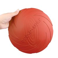 Wholesale pet plastic material - Lemonbest 22cm Eco -Friendly Pet Product Natural Rubber Material Pet Dog Toy Frisbee Dog Training Fetch Toys Dogs Training Flying