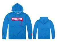 Wholesale Cheap Designer Hoodie - Wholesale-Freeshiping cheap online Trukfit Hoodies smoking women classic men's designer hoody Sweatshirts black red blue grey