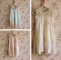 Wholesale Dress Flower Pearl Collar - summer girls chiffon lace pearl collar sleeveless Princess Dress girls lace flower dress princess dress girls sleeveless lace dress in stock