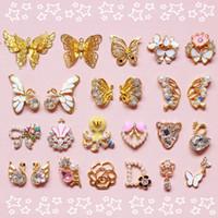 Wholesale Metal Charm Nail Art - 2015 High Quality 3D DIY Metal Nail Art Rhinestones Tip Decals Decoration Fashion Luxury Charm Jewelry Tools 24 Styles