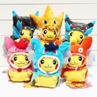 Wholesale Wholesale Free Stuff - Poke Mega XY Pikachu Charizard Magikarp Brinquedo Plush Toys Stuffed Doll With Tag 21CM Free Shipping