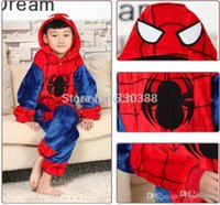spiderman onesie pajamas - Halloween Spiderman Spider man Spider man Kids Children Cosplay Pajamas Anime Cosplay Boy Girl Onesie Party Costumes Gifts