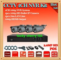 Wholesale Outdoor Nvr - CIA-free shipping. Outdoor IP Camera 4ch NVR kit POE Security System 1080P Full realtime NVR IP Camera NVR Kit System HDMI 1080P NVR