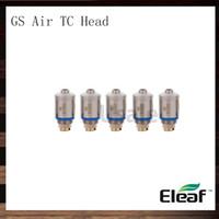 eleaf gs luftspulenkopf großhandel-Eleaf GS Air Pure Cotton Kopf 1,2 Ohm 0,75 Ohm Ersatzspulen für GS Air Tank Zerstäuber Spule 100% Original
