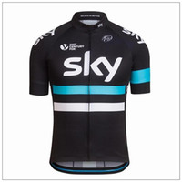 Short Breathable Men New Arrival Sky Cycling Jersey Set Short Sleeve With  Cool Max Padded Bib 5670987f2