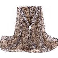 Wholesale Tartan Leopard Scarf - Fashion Women Scarves Leopard Print 100% Polyester Soft long Scarfs Shawls For Elegant Lady 180*80 CM