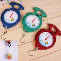 Wholesale Hanging Digital Fishing Scales - Good Price 120 pcs lot 10kg Fish Shape Weighing Hanging Scale Handheld Numeral Pointer Spring Balance #1583