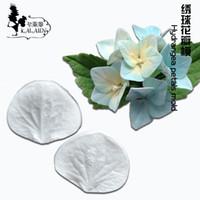 Wholesale Wholesale Gum Paste - Wholesale- N423 sugar Hydrangea fondant flower fondant silicone cake mold gum paste mold
