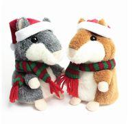 Wholesale Hamsters Free Shipping - Lovely Talking Hamster Plush Toy Hot Cute Speak Talking Sound Record Hamster Toy Animal Free Shipping Wholesale