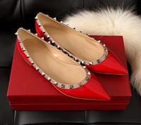 natürliches latex großhandel-flache einzelne Schuhe Neue ursprüngliche Marke Frauen Wohnungen Highquality echte natürliche Leder Damen Sommer Sandalen spitz flach einzigen