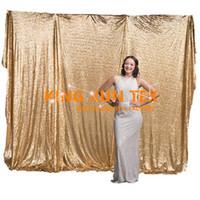 Wholesale Gold Sequin Curtains