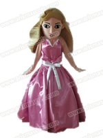 Wholesale Princess Mascot Costumes - AM6334 princess sleeping beauty mascot costume Fur mascot suit cartoon mascot outfit adult fancy dress