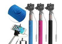 Wholesale phone holder for selfie stick online – Wired Selfie Stick Handheld Monopod Built in Shutter Extendable Mount Holder For iPhone Samsung Smartphone Any Phones Camera
