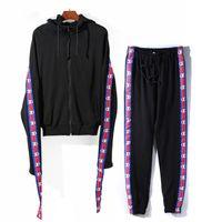 Wholesale Taped Jacket - Vetements Suit New Taped Unisex Vetements Style Loose Fit Hoodie Pants Jacket GWGW736
