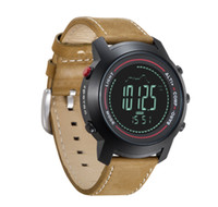 Wholesale Sport Watch Unisex Compass - Spovan Men Watch Fancy Outdoor Digital Sports Watches with Leather MG-01Sports Watch With Altimeter Barometer Compass