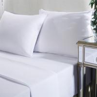 camas tamaño queen envío gratis al por mayor-2017 envío gratis NUEVO 1000TC Ultra SUAVE Flat Fitted Sheet Set Queen / King / Super King Size Bed