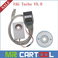 Wholesale Nec 24c32 - 2015 Newly Arrival Vagtacho USB 5.0 Version VAG Tacho V5.0 For NEC MCU 24C32 or 24C64 Free Shipping