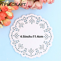 """Wholesale Cake Doilies - Wholesale- YPP CRAFT Creative Craft 4.5"""" Inch Round White Paper Lace Doilies Cake Placemat Party Wedding Gift Decoration 100pcs pack"""