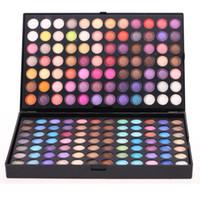 нейтральные мерцающие тени для век оптовых-Wholesale-Professional 252 Colors Eyeshadow Palette  Set Neutral & Shimmer Matte Cosmetic High Quality Free Shipping WLDE