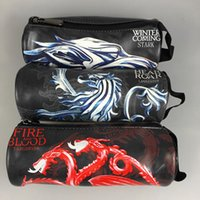 Lápices De Juego Baratos-Game of Throne Pencil Bags 3 Style Anime Pencil Pen Case Maquillaje cosmético Coin Pouch Zipper Bag